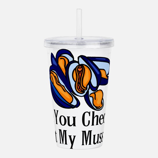 Checking Out Mussels Acrylic Double-wall Tumbler