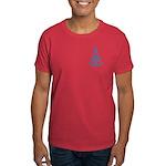 Masonic Design on Left Breast of a Dark T-Shirt