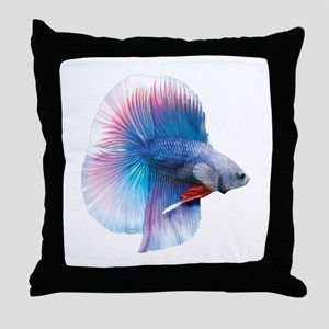 Double Tail Betta Throw Pillow