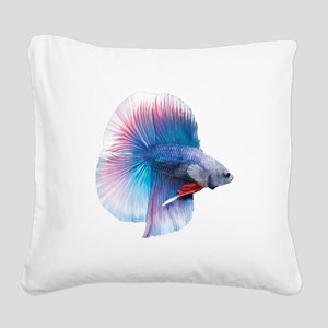 Double Tail Betta Square Canvas Pillow