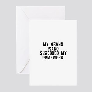 My Grand Piano Shredded My Ho Greeting Cards (Pack