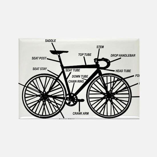 Unique Bike Rectangle Magnet
