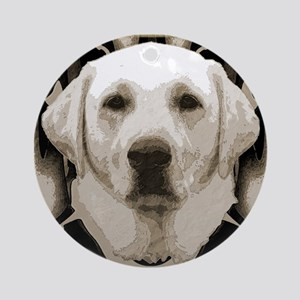 A rustic yellow lab Ornament (Round)