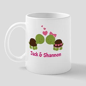 Turtle Couple Personalized Mugs