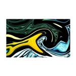 Naked Art Yellow Waves 35x21 Wall Decal