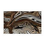 Naked Art Zebra Stampede 35x21 Wall Decal