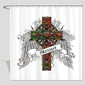 Stewart Tartan Cross Shower Curtain