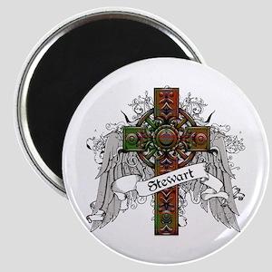 Stewart Tartan Cross Magnet