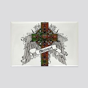 Stewart Tartan Cross Rectangle Magnet