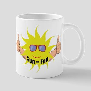 Sun Equals Fun Mugs