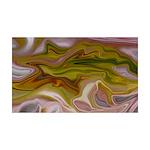 Naked Art Yellow Chiffon 35x21 Wall Decal