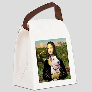 Mona's Bull Terrier (B) Canvas Lunch Bag