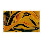 Naked Art Yellow Iris 35x21 Wall Decal