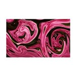 Naked Art Pink Begonias 35x21 Wall Decal