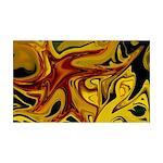 Naked Art Liquid Iris 35x21 Wall Decal