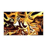 Naked Art Dancing Fire 35x21 Wall Decal