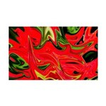 Naked Art Red Geraniums 35x21 Wall Decal