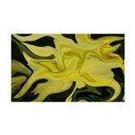 Naked Art Yellow Lily 35x21 Wall Decal