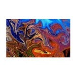 Naked Art Color Explosion 35x21 Wall Decal