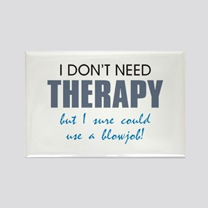 No Therapy Rectangle Magnet