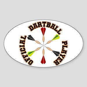 Dartball Player Sticker