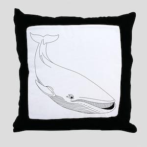 Baleen Whale Throw Pillow