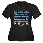 Get Your Pet Women's Plus Size V-Neck Dark T-Shirt