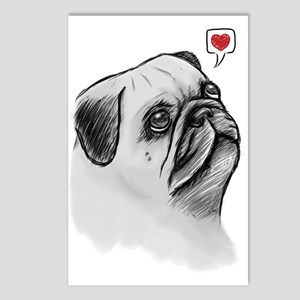 PugSketch_PC Postcards (Package of 8)