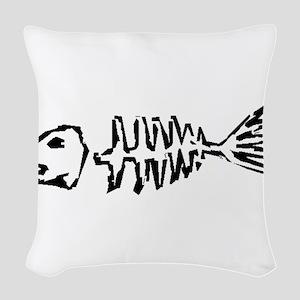 Fish Bones Woven Throw Pillow