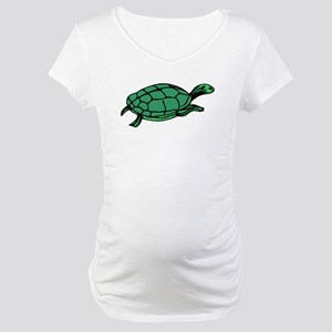 Green Turtle Maternity T-Shirt