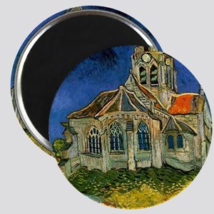 Van Gogh Church at Auvers Magnet