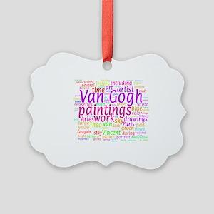 Van Gogh Word Cloud Picture Ornament