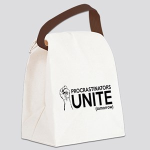 Procrastinators UNITE (tomorrow) Canvas Lunch Bag