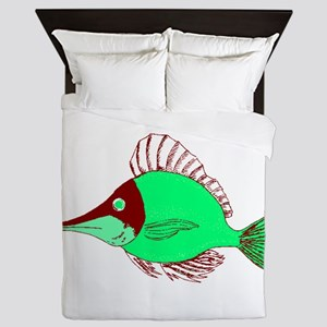 Green Ocean Fish Queen Duvet