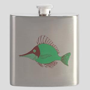 Green Ocean Fish Flask