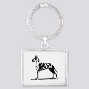 Great Dane Landscape Keychain