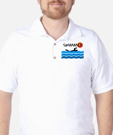 Swimmer Golf Shirt