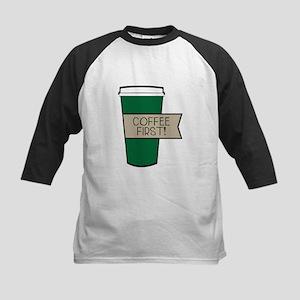 Coffee First! Baseball Jersey