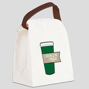 I Run On Coffee Canvas Lunch Bag