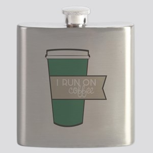 I Run On Coffee Flask