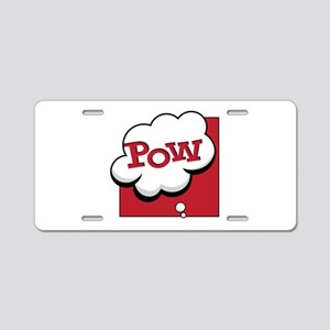Pow Aluminum License Plate