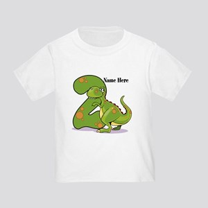 2nd Birthday Dinosaur Toddler T-Shirt