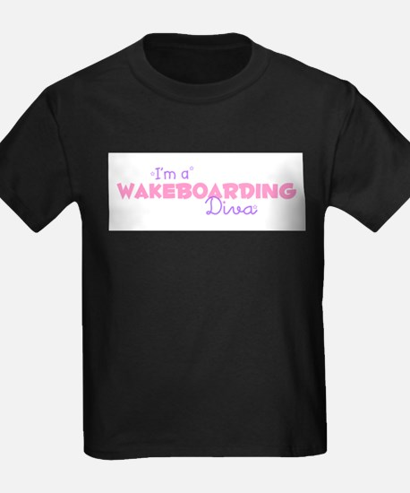 I'm a Wakeboarding diva Kids T-Shirt