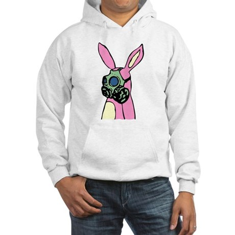 Pink Bunny Rabbit Gas Mask Hooded Sweatshirt