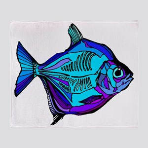 Silver Dollar Fish Throw Blanket