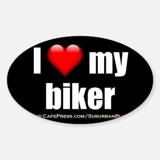 Cute Bike helmet Sticker (Oval)