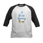 I Love Carting Kids Baseball Jersey