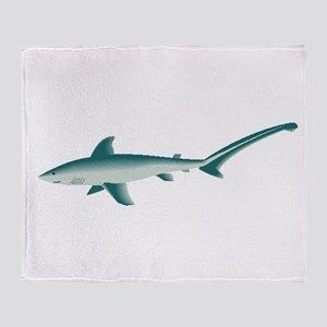 Thresher Shark Throw Blanket