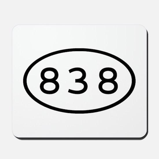 838 Oval Mousepad