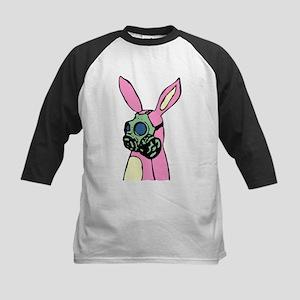 Pink Bunny Rabbit Gas Mask Kids Baseball Jersey